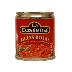 Jalapeños rajas rojas 220g - La Costeña