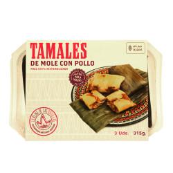 Tamal de mole con pollo 3uds - La Reina de las Tortillas