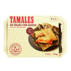 Tamal de rajas con queso 3uds - La Reina de las Tortillas