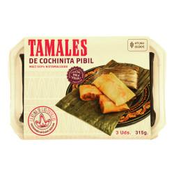 Tamal de cochinita pibil 3uds - La Reina de las Tortillas