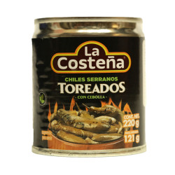Chiles Serranos Toreados 220g - La Costeña