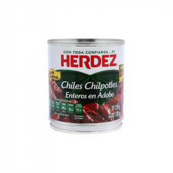 Chipotles adobados lata 220g - Herdez