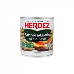 Jalapeño rajas 220g - Herdez