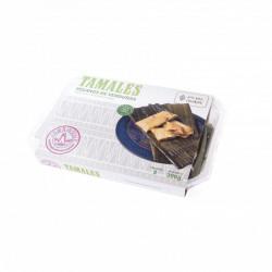 Tamales vegetarianos 3 unidades 300g - La Reina de las Tortillas