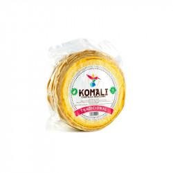 Tortilla de maíz 15cm 500g - Komali