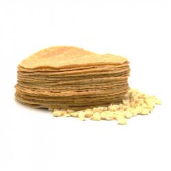 Tortilla de maíz blanco nixtamalizado - Sin conservantes 12cm - Maíz Maya